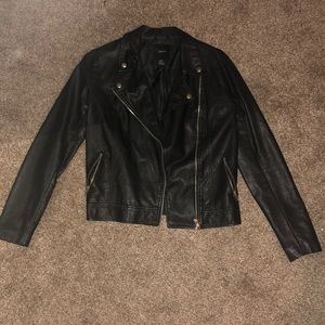 Barely worn Forever 21 faux leather jacket